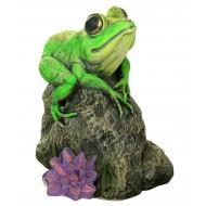 Лягушка на пне Садовая фигура