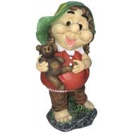 ФП 776 Девочка с мишкой Садовая фигура