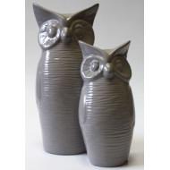Фигурка керамическая Сова Большая F 2003 J 22 Серый