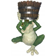 ФП 785 Лягушка с кадкой Садовая фигура