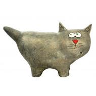 Котик испуганный однотонный Садовая фигура
