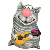 Кот с гитарой Садовая фигура