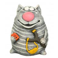 Кот с рогаткой Садовая фигура