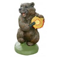 Медведь с бубном Садовая фигура