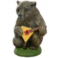 Медведь с балалайкой Садовая фигура