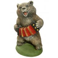 Медведь с гармошкой Садовая фигура
