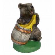 Медведь с бочонком Садовая фигура