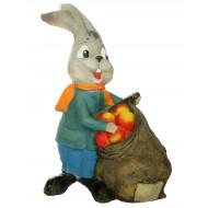 Заяц с яблоками Садовая фигура